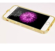 Luxury Bling Rhinestone Crown Aluminum Metal Bumper For iPhone 6 4.7 inch
