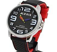Frauen Damen Runde Silikon Armband Quarzuhr (farblich sortiert)
