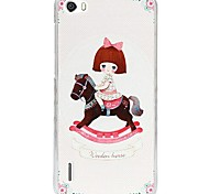 Fashion Painted Trojan Girl PC Back Cover for Huawei Honor 6