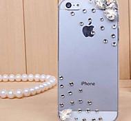 iPhone 5C - Per retro - per Transparente/Ultra sottile/A gocce di pioggia ( Bianco , Policarbonato )