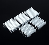 Fins 25 * 25 * 5MM (Silver Slotted) CPU, Etc. With High Quality Radiators Route(5Pcs)