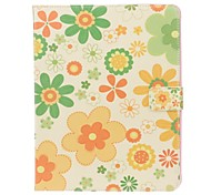 Colorful Flower PU Leather Flip Open Case with Stand for iPad Air