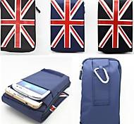 Design spécial - Sacoche - pour iPhone 5/iPhone 5S/iPhone 6 Plus/iPhone 6 ( Noir/Bleu/Gris , Textile )