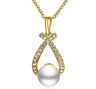 Gold Plated Drop Pendant Fashion Necklace