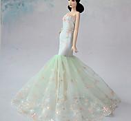 Barbie Doll - Abiti - Matrimonio - di Organza/Pizzo - Verde chiaro - Abiti