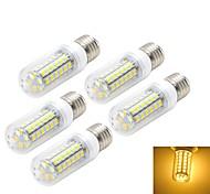 5pcs E27 10W 9000LM 6500K/3000K 48-5730 SMD Warm/Cool White Light LED Corn Bulb (AC 220~240V)