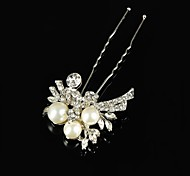 Vintage Wedding Party Bride Flower Austria Crystal Silver HeadPin Hair Accessories