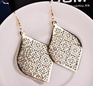 2015 Fashion Hollow Chinese Wind Multi-Level Lady Frosted Earrings