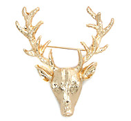 Golden-Tone Metal Moose Head Brooch Brooches Pin Men Jewelry Fashion Jewelry for Women 2014 Christmas Gif