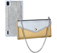 New 2 In 1 Top Quality PU Leather Wallet Case with Chain Cover for Huawei P7