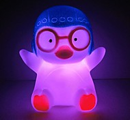 3pcs Penguin Rotocast Color-changing Night Light(Random Color)