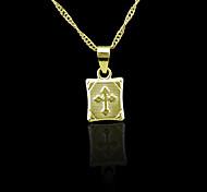 Chapado en oro verdadero 18k colgante de 2 * 1cm