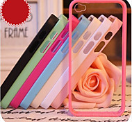 iPhone 4/4S/iPhone 4 - Cover-Rückseite - Spezielles Design ( Rot/Schwarz/Weiß/Grün/Blau/Rosa/Lila/Rose , Silikon )