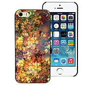Yellow leaf Design PC Hard Case for iPhone 5/5S