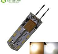 Ampoule Maïs Décorative Blanc Chaud/Blanc Froid SENCART MR11 G4 2 W 24 SMD 3014 180-220 LM AC 100-240 V
