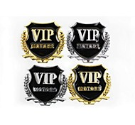 3D Metal Auto Logo Car Sticker VIP Decals/Alloy Car Engine Cover Emblem/Custom Car Window Decals Sticker  2pcs/lot