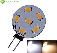 g4 3w 6x5730 / 5630smd geleid 270lm 3000k 6500k warm wit / koel wit voor auto-lamp (dc9-36v)