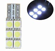 Lampe de Décoration Décorative Blanc Froid ding yao 1 pièce T10 5 W 6 SMD 5050 100-300 LM DC 12 V