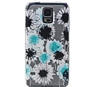 5,1-Zoll-Blumenmuster TPU weichen Fall der rückseitigen Abdeckung für Samsung-Galaxie i9600 s5