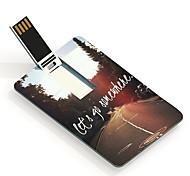 16GB Let's Go Somewhere Design Card USB Flash Drive