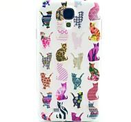 colorido gato TPU suave para mini i9190 Samsung Galaxy S4