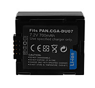 700mAh Camera Battery Pack for PANASONIC  VW-VBD070/CGA-DU07