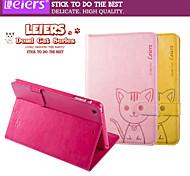 caso ranura leiers® gato domi flip magnética cubierta de cuero tarjeta de soporte de la carpeta para el mini ipad 1/2/3 (colores surtidos)