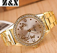 Women's Fashion Diamond Butterfly Mirror Quartz Analog Steel Belt Watch Cool Watches Unique Watches