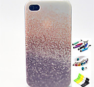 Stars Pattern with Stylus ,Anti-Dust Plug and Stand TPU Soft Case for iPhone 4/4S