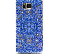 samsung galaxy g850f alfa flores azules compatibles figura con diamante diseño TPU caso de la contraportada suave