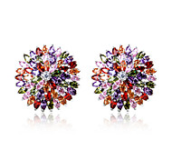 High Quality Fashion Women's Hat Zircon Earrings