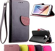 livre étui en cuir flip avec support et fente pour carte pour Samsung Galaxy S6 g9200 (couleurs assorties) (couleurs assorties)