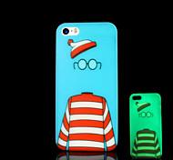 patrón de dibujos animados resplandor en el caso duro para el iphone 5 oscuro / iphone 5 s