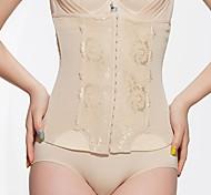 Gaine Respirabilité / Coupe 3D Mousseline polyester / Chinlon Jacquard / Bouton Taille haute Moyen Noir / Beige