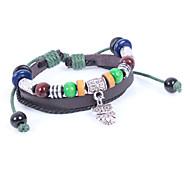 2015 Fashion Personality Vintage Beaded Jewelry Leather Bracelet