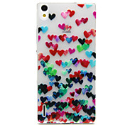 Back Cover Ultra-thin Heart TPU Soft Case Cover For Huawei Huawei P7 / Huawei Mate 7