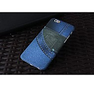 New Ultra-Slim Jeans Pattern Plastic Case for iPhone 6
