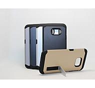 abs armatura di plastica verde con il telefono supporto fangshuai guscio protettivo per il bordo Samsung Galaxy S6