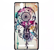 Campanula Pattern PC Hard Case and Phone Holder for Sony Xperia T2