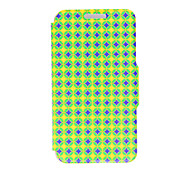 Kinston® Blue and Yellow Diamond Pattern PU Leather Full Body Cover with Stand for Huawei Honor 4X/Honor Che1-CL20