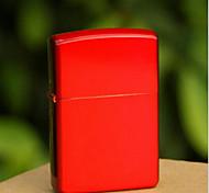 Luxurious Red Bright Chrome Plated Kerosene Lighter