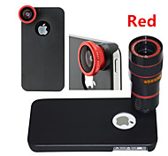 Apexel  4 in 1 8X Telephoto Lens / Fisheye Lens / Wide Angle Add-on Macro Lens Kit with Back Case for iPhone 5/5S