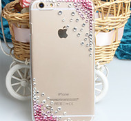 Fashion Diagonal Pink diagonal Case Bowknot Pattern Rhinestone Case for iPhone6 plus
