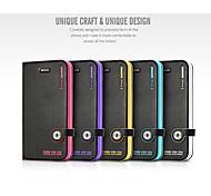 hellodeere® PU cas fente pour carte portefeuille en cuir flip avec support et bricolage boucle magnétique pour iPhone 4 / 4S (couleurs