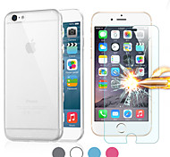 Mr.northjoe® 2 in 1 Ultra Slim TPU Back Case + Tempered Glass Film Screen Protector for iPhone 6S Plus/6 Plus (Assorted Colors)