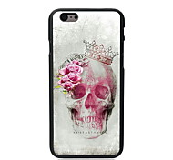Skull and Rose Design PC Hard Case for iPhone 6