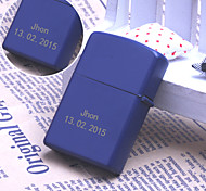 Personalized Gift Dark Blue Color Engave Oil Lighter