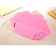 Silicone Material Pure Color Lipstick PINK Style for iPhone 6S Plus/6 Plus (Assorted Colors)