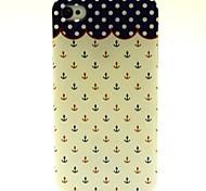 Wellen Anker-Muster-TPU weiche Tasche für iPhone 4 / 4s