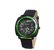 Men'S White Black Dial Nylon Band Outdoor Sport Quartz Analog Wrist Watch